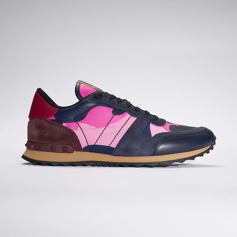 VALENTINO CAMO ROCKRUNNER BLUE/PINK