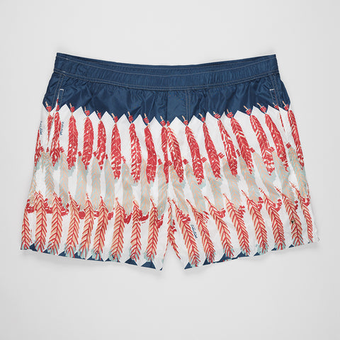 VALENTINO FEATHER-PRINT SHORTS