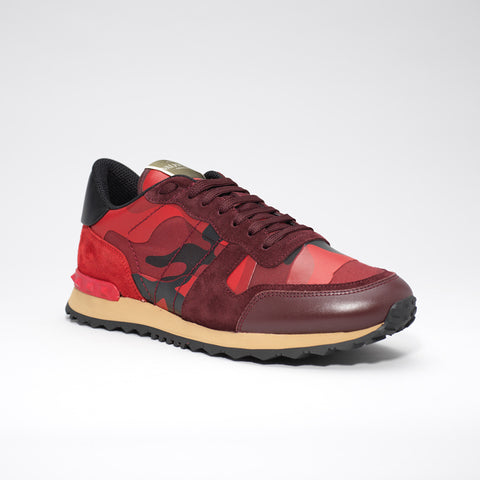 VALENTINO ROCKRUNNER CAMO SNEAKER RED