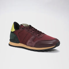 VALENTINO ROCKRUNNER SUEDE/MESH/LEATHER RED