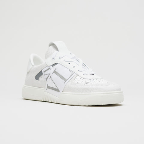 VALENTINO VL7N REFLECTIVE LOW-TOP TRAINERS WHITE