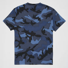 VALENTINO CAMOUFLAGE T-SHIRT BLUE
