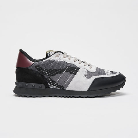 VALENTINO CAMO KNITTED ROCKRUNNER GREY/BLACK