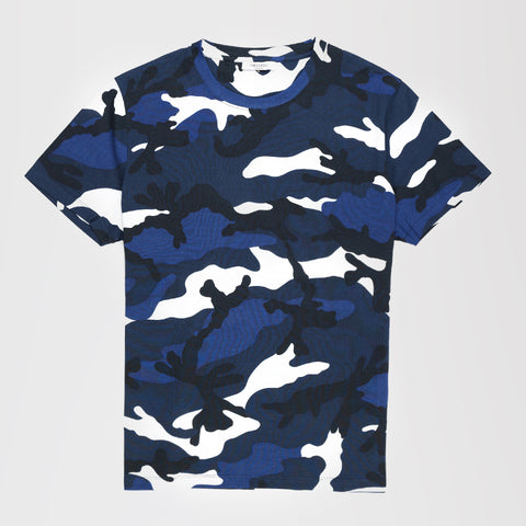 VALENTINO CAMO T-SHIRT DARK BLUE