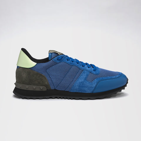 VALENTINO ROCKRUNNER SUEDE/MESH/LEATHER BLUE