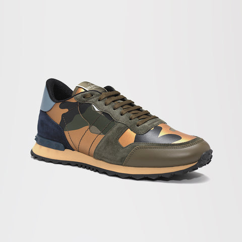 VALENTINO CAMO ROCKRUNNER GREEN/GOLD/BLUE