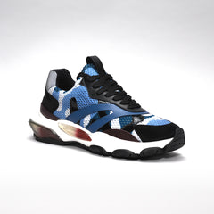 VALENTINO BOUNCE RAISED-SOLE LOW-TOP TRAINERS BLUE
