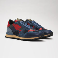 VALENTINO CAMO ROCKRUNNER BLUE/RED