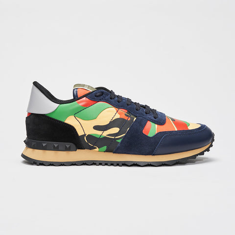 VALENTINO CAMO ROCKRUNNER BLUE/GREEN/RED