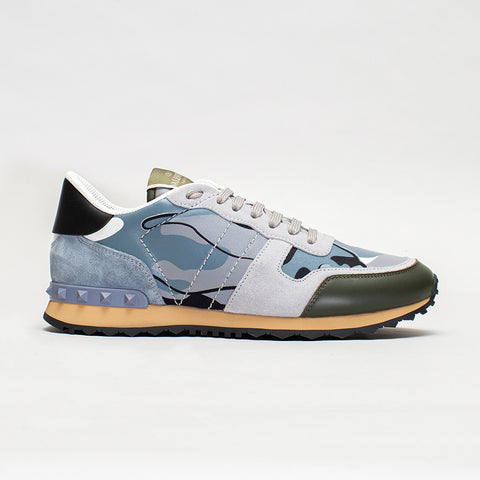 VALENTINO CAMO PRINT ROCKRUNNER LIGHT BLUE/GREY/GREEN