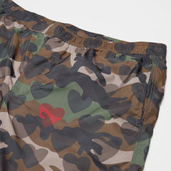 VALENTINO CAMO LOVEHEARTS SWIM SHORTS GREEN