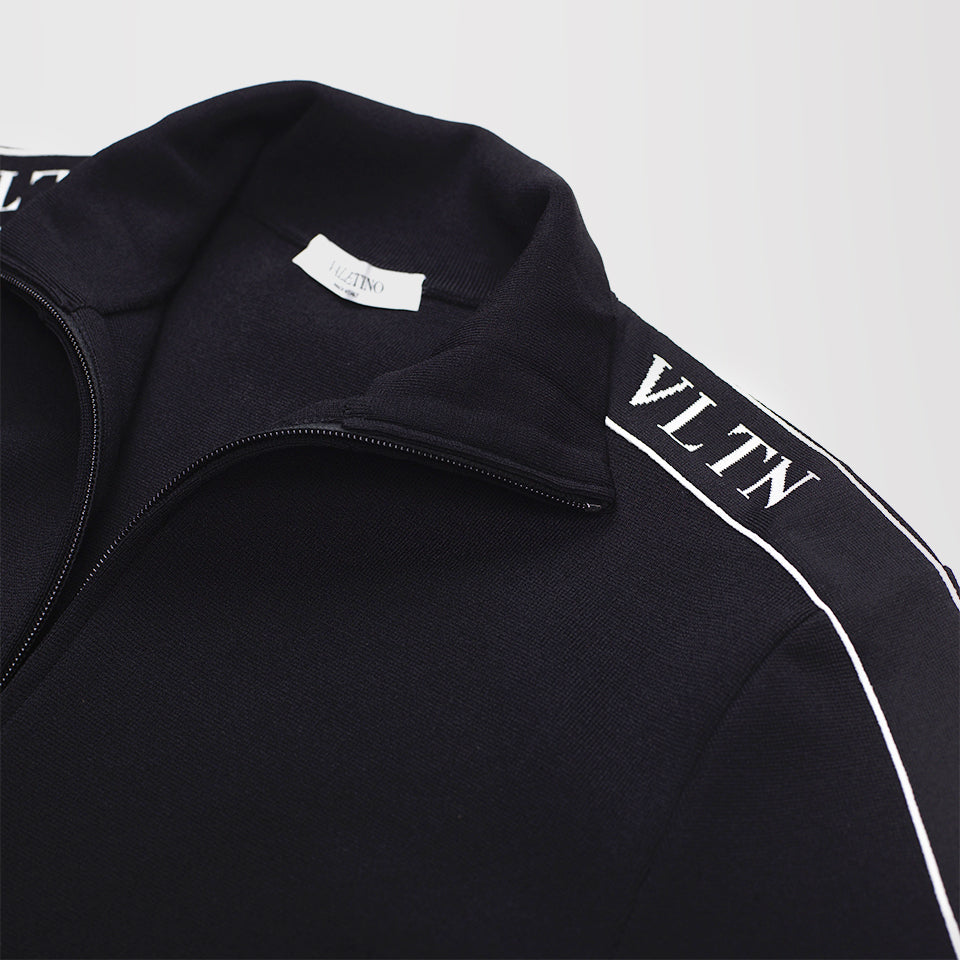 95bc34b01 VALENTINO VLTN VISCOSE KNIT ZIP-UP TRACK JACKET BLACK – Mr Trendz