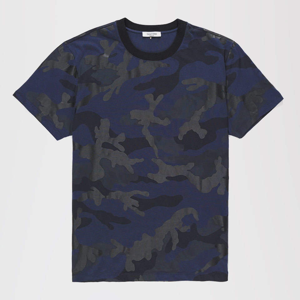 VALENTINO CAMOUFLAGE T-SHIRT BLUE/BLACK