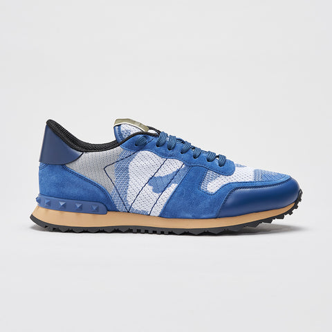 VALENTINO CAMO KNITTED ROCKRUNNER BLUE/WHITE