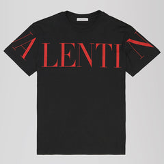 VALENTINO PRINT T-SHIRT BLACK/RED