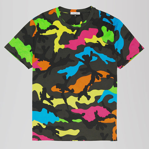 VALENTINO CAMO T-SHIRT MULTI COLOURED