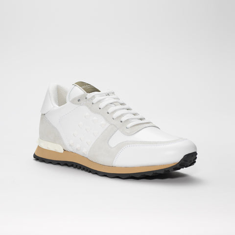 VALENTINO ROCKRUNNER LEATHER WHITE