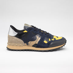VALENTINO ROCKRUNNER CAMO SNEAKER YELLOW/BLUE