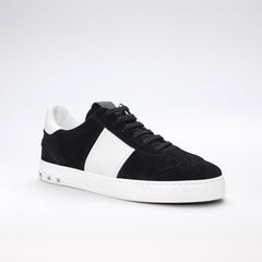 VALENTINO FLYCREW LOW TOP SUEDE TRAINERS BLACK