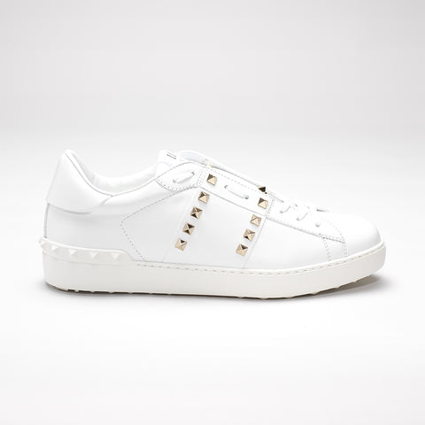 VALENTINO ROCKSTUD UNTILTED #11 LOW-TOP LEATHER TRAINERS