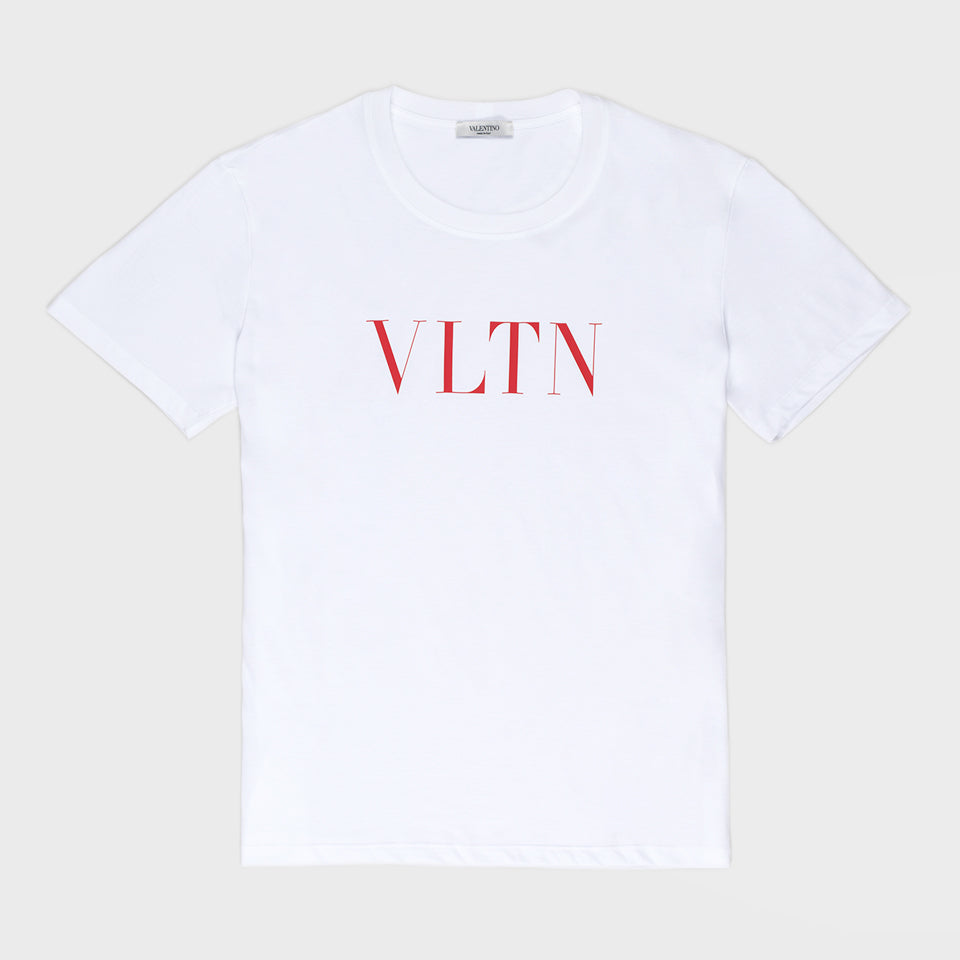 VALENTINO RED VLTN PRINT T-SHIRT WHITE