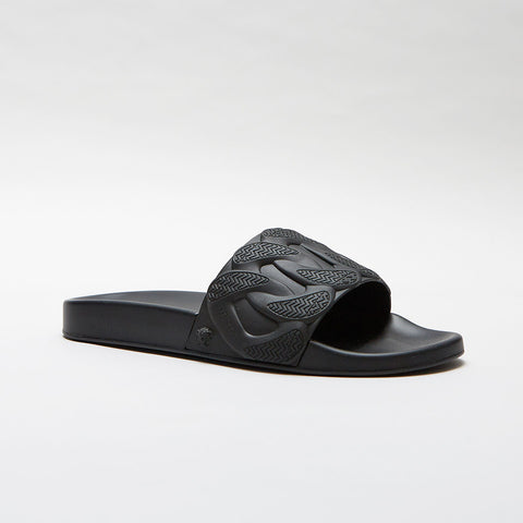 VERSACE CHAIN REACTION POOL SLIDES BLACK