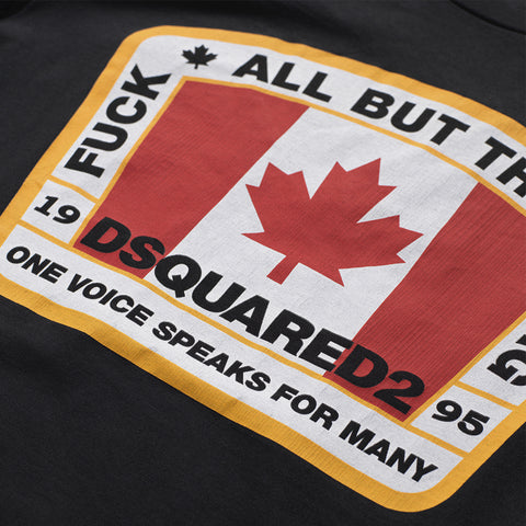 DSQUARED2 CANADIAN FLAG T-SHIRT BLACK