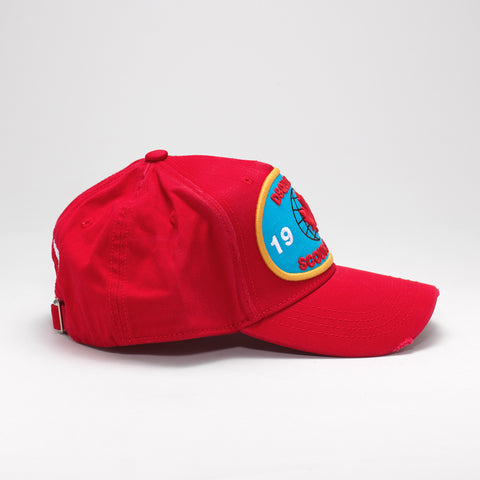 DSQUARED2 SCOUT-O-RAMA BASEBALL CAP RED