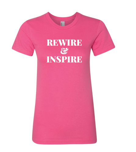 Short Sleeve Rewire & Inspire Pink T