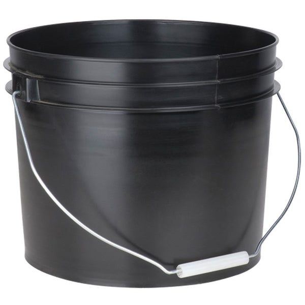 Bucket Black 12L (3gal) Lite (5 pack)