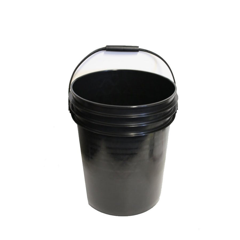 20 Liter / 5 Gallon Plastic Bucket / Pail with handle Black