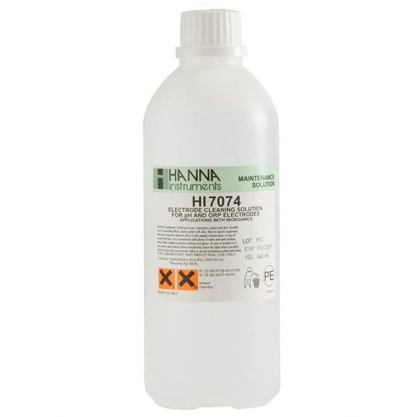 Hanna Instruments HI 7074L 500ml Inorganic Cleaning Solution