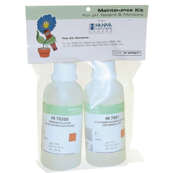 Hanna Instruments MTNKIT Cleaning w/ Storage Solutions 230 ml
