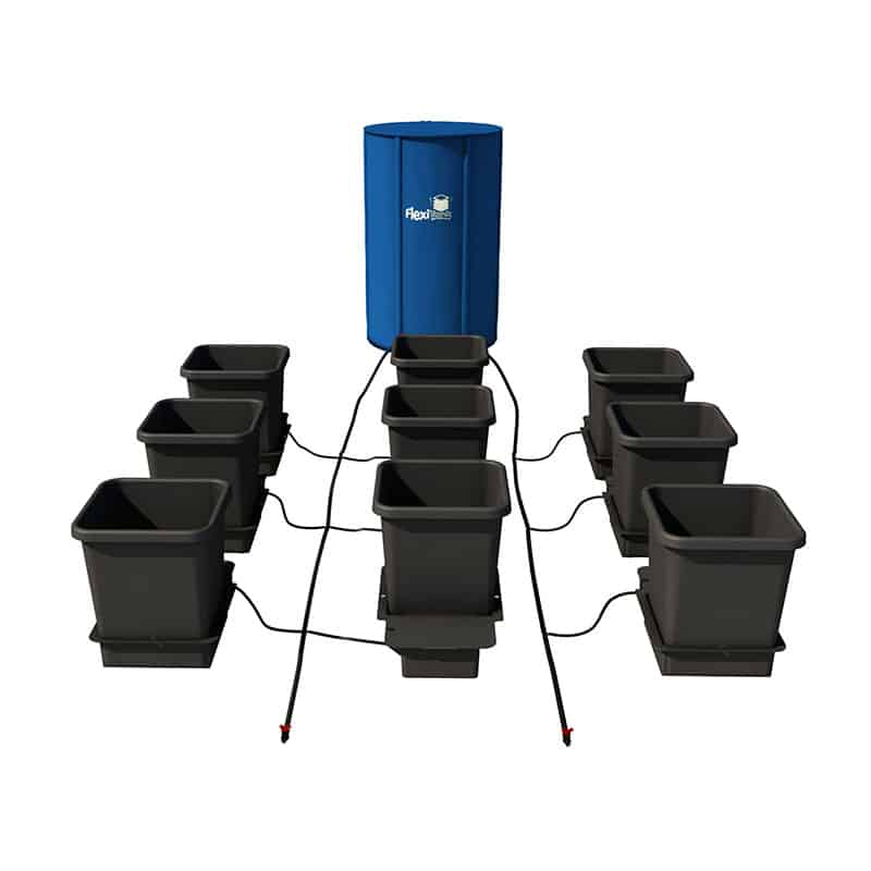 AutoPot 9 Pots System Kit w/ Flexitank 100L - 25 Gallon