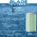 "Blade Filters BF1240i 1800 CFM 12"" Carbon Filter Replacement cartridge"