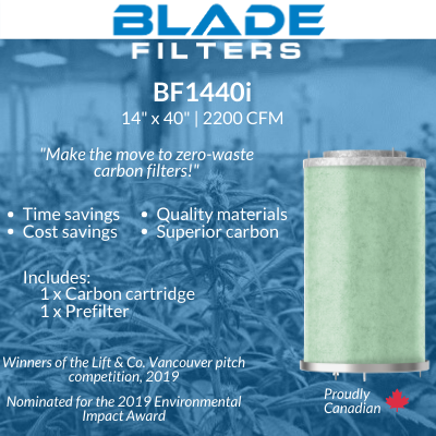 "Blade Filters BF1440i 2200 CFM 14"" Carbon Filter Replacement cartridge"