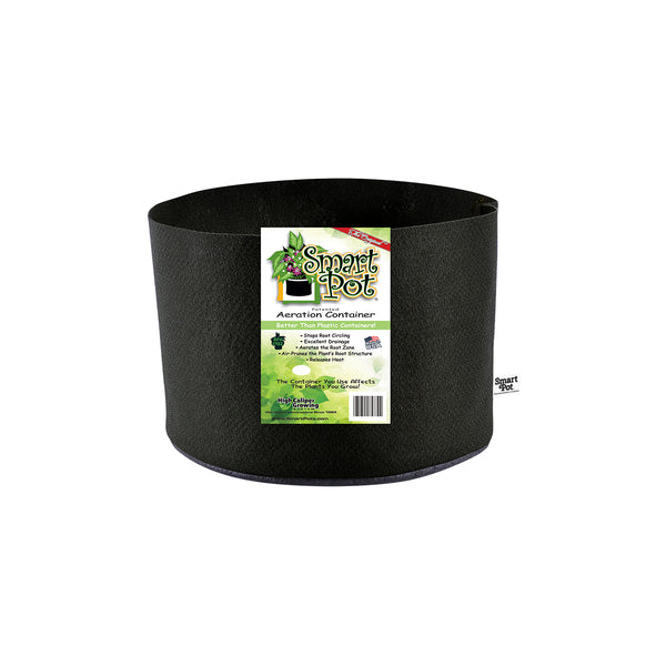 "Smart Pot #1 1 Gallon / 4 L,  7"" base x 6"" height Black Fabric Pot"
