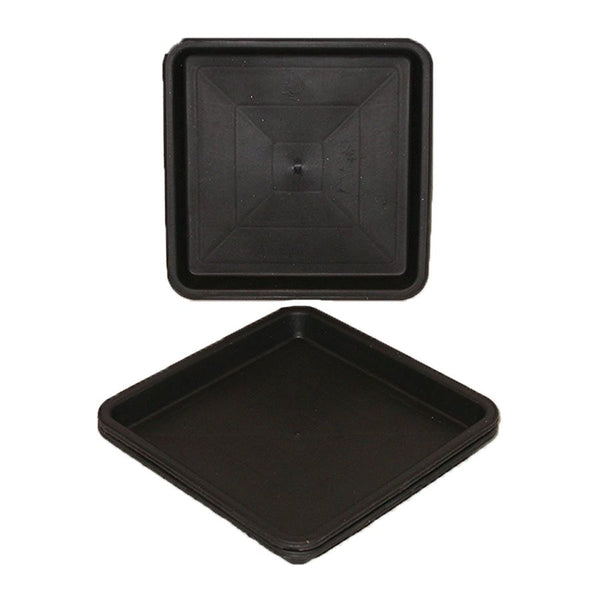 "Futur Harvest Square Saucer 8""-Black"