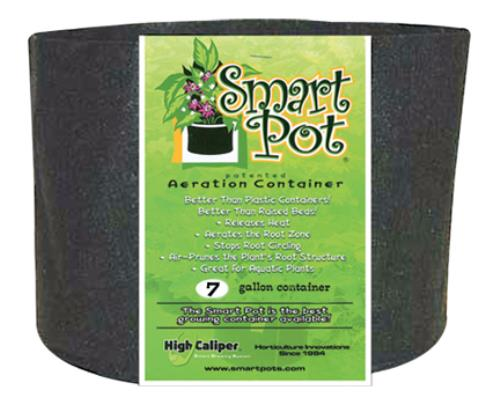 "Smart Pot #7 (w/o Handles) 7 GAL / 26 L 14"" / 35 CM Black Fabric Pot"