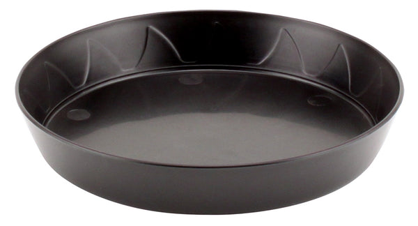 Gro Pro® Heavy-Duty Hard Plastic Black Saucers (6-25 in)