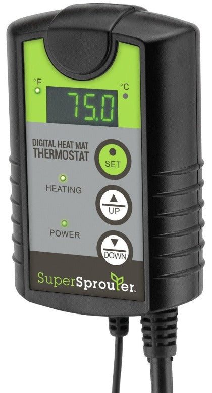 Super Sprouter Seedling Heat Mat Digital Thermostat