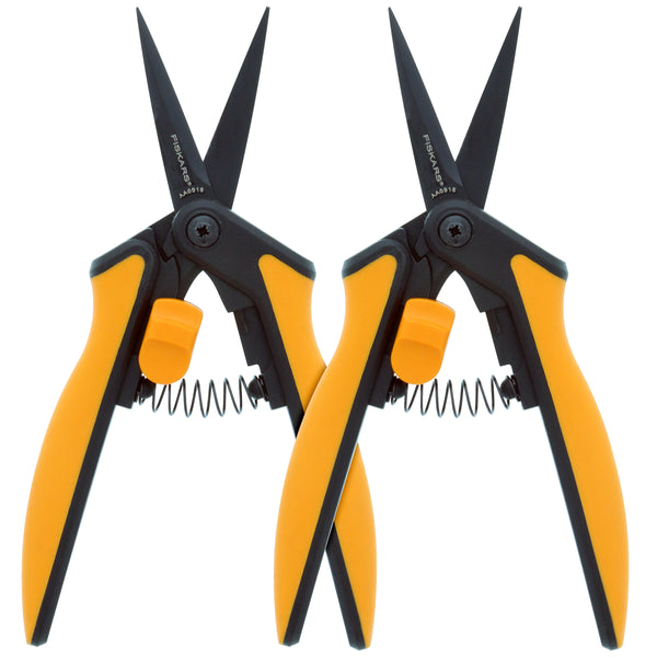 Fiskars® Non-Stick Softgrip® Micro-Tip Pruning Snip (box of 2)