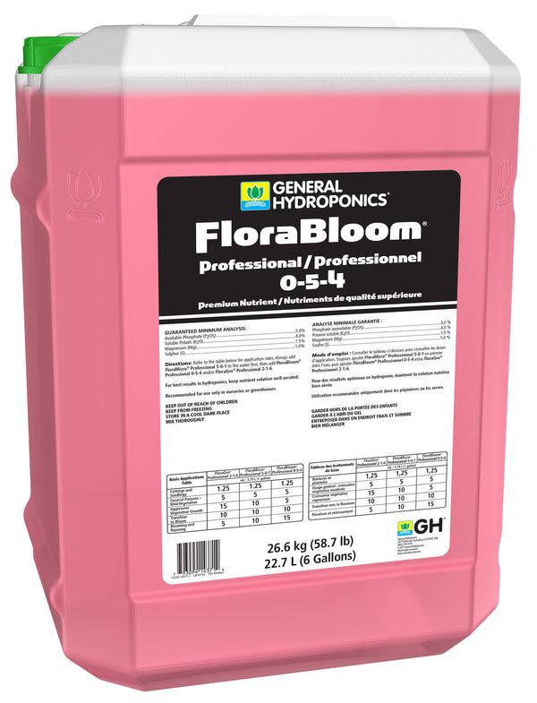 General Hydroponics GH FloraBloom Professional 6 Gallon (0-5-4)