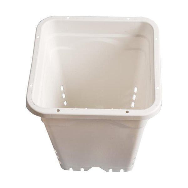 "HydroFarm SQUARE WHITE POT,  12""X12""X12"" TALL, 24 PER CASE"