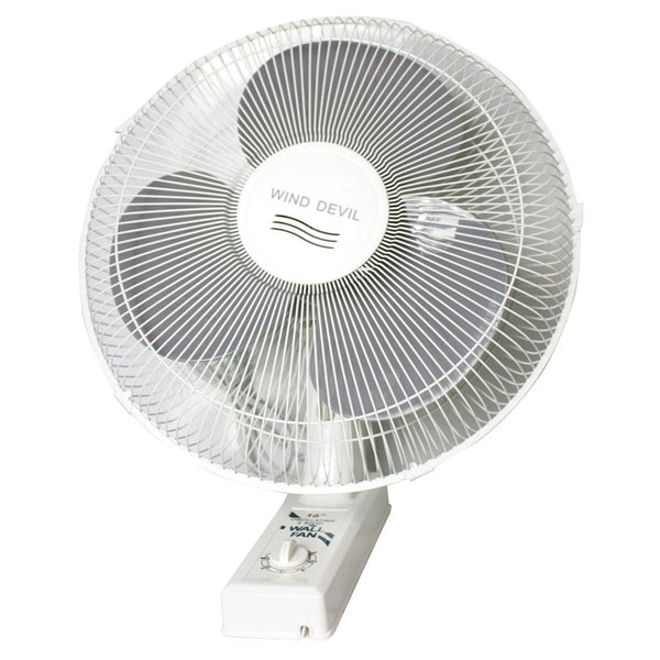 "Wind Devil - 16"" Oscillating Wall Fan / 3 Speeds"