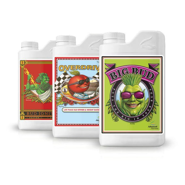 Advanced Nutrients Bigger Buds Bundle Bud Ignitor, Overdrive, Big Bud
