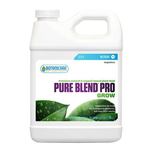 Botanicare Pure Blend Pro Grow 1 Quart Nutrients & Additives - Indoor Growing Canada