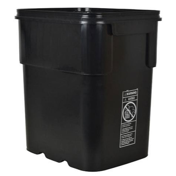 Black Square Bucket 13 Gallon