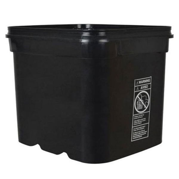 Black Square Bucket 8 Gallon