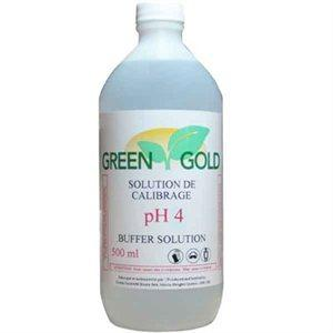 Green Gold Nutrients pH 4.0 Calibration Solution 500 ml